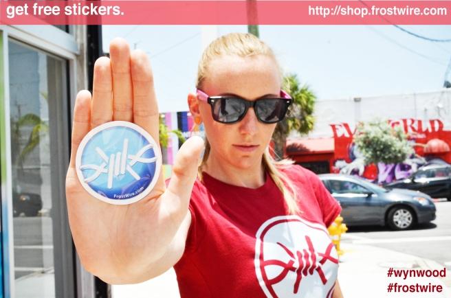 Order Free FrostWire Stickers