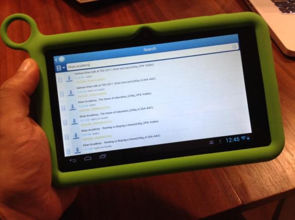FrostWire running on the OLPC tablet.