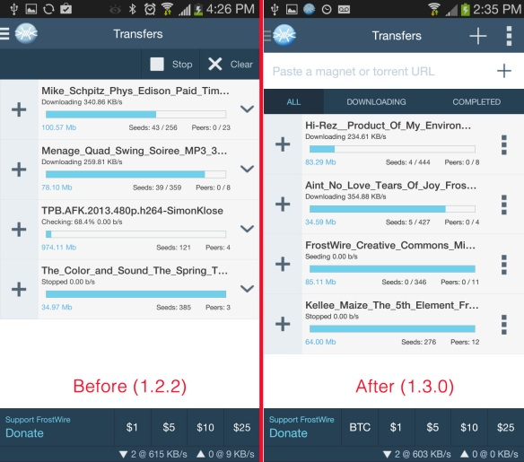 frostwire_transfers_before_and_after_screenshots