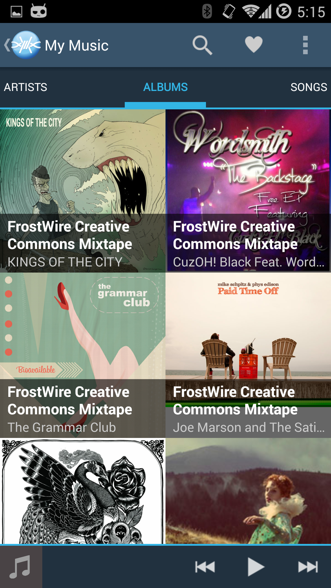 New FrostWire Music Player