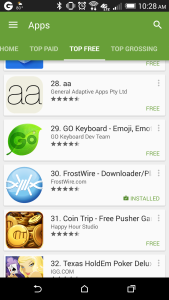 FrostWire Top 30 Free App on Google Play