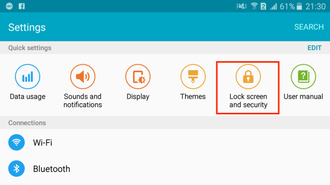 lock screen security
