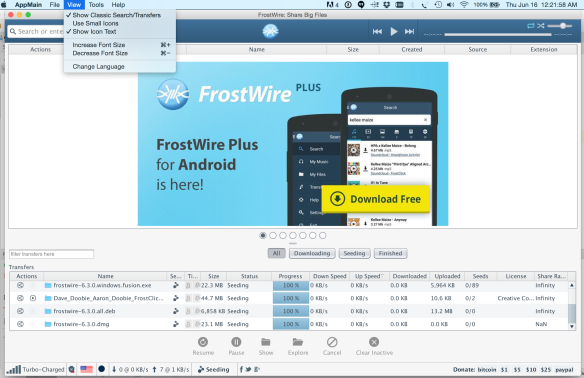 Cant download frostwire.